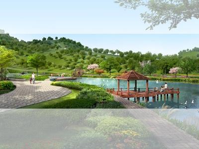园林景观规划效果图
